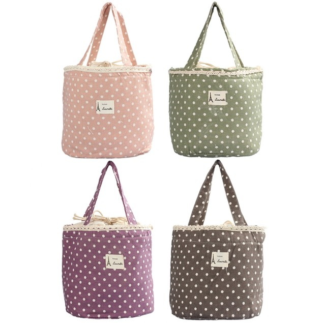 Thermal Insulated Tote Cooler Bag Bento Pouch