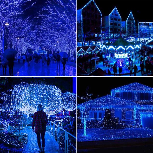 3 Pack Outdoor 200 LED Solar Fairy String Lights 78.7'' Garden Yard Decor