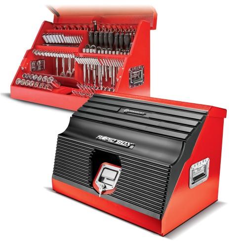 Powerbuilt 26 Inch Rapid Box Portable Slant Front Tool Box - Gray - 240111