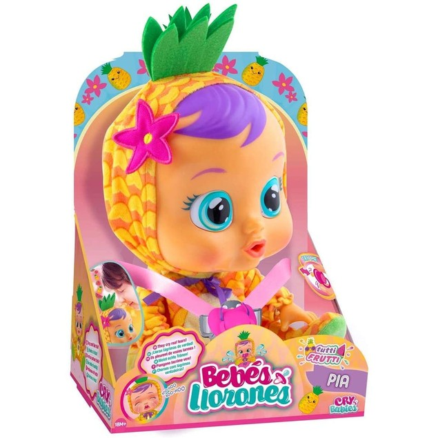 Cry Babies Pineapple Pia Interactive Doll