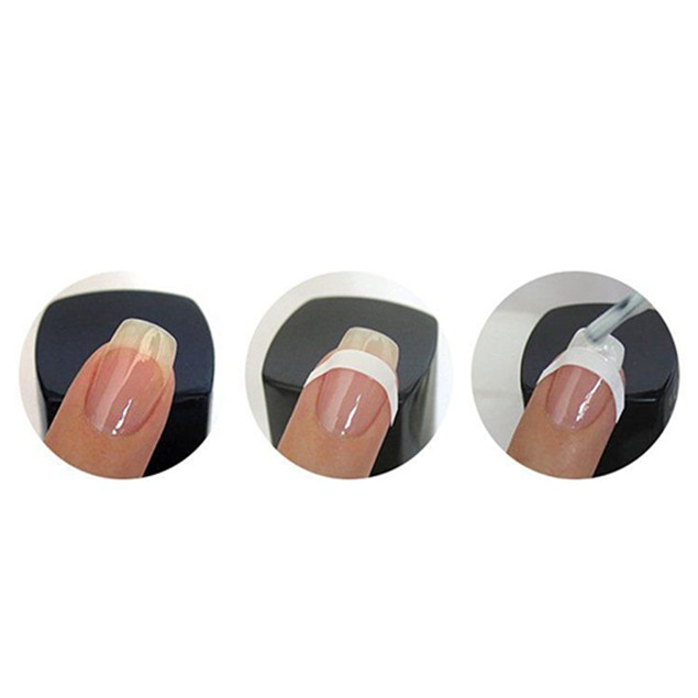 5 Sheets French Manicure Nail Art Tip Form Guide Sticker