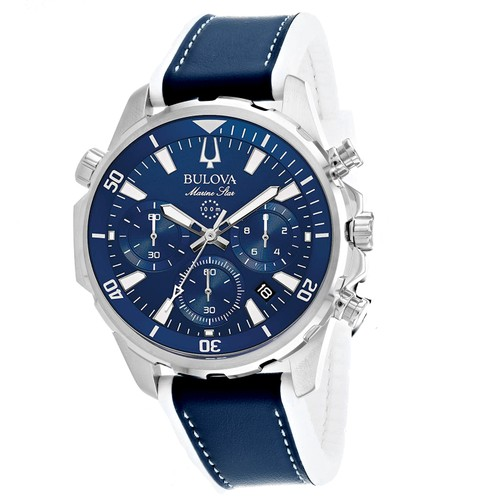 Bulova Men's Marine Star Blue Dial Watch - 96B287