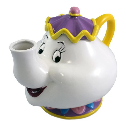 """Mrs. Potts Sculpted Ceramic Teapot Beauty and The Beast 4.7 X 5 X 5"""" Gift"""