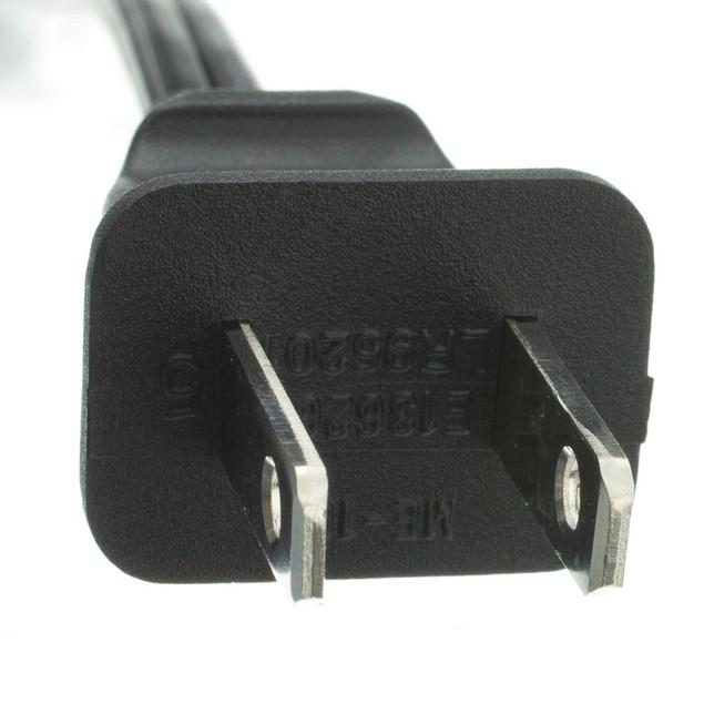 Notebook/Laptop Power Cord,  Non-Polarized, 3 ft