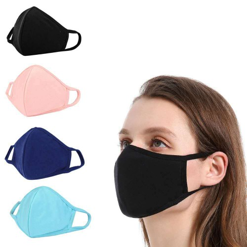 5Pcs Unisex Dust Masks Can Be Washed And Reused In Random Colors