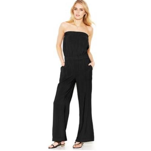 Rachel Rachel Roy Women's Isla Strapless Jumpsuit Black Size Small