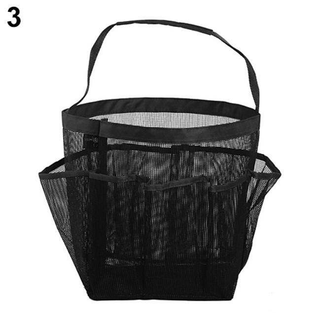Pockets Shower Hanging Caddy Organizer Bag for Bathroom Accessory Mirror
