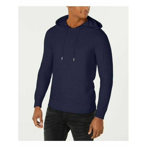 INC International Concepts Men's Hooded Sweater Blue Size Large