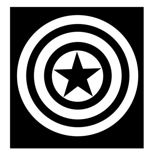 Captain America White Shield Sticker