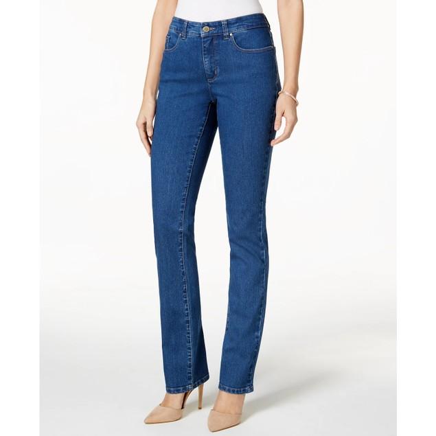 Charter Club Women's Lexington Straight-Leg Jeans Bright Blue Size 6S