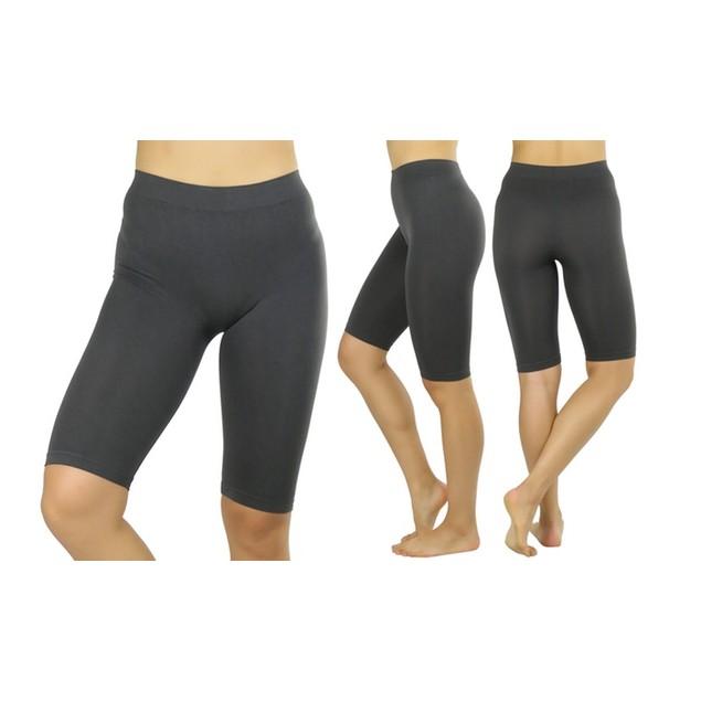 ToBeInStyle Women's Nylon Above Knee-Length Legging Shorts
