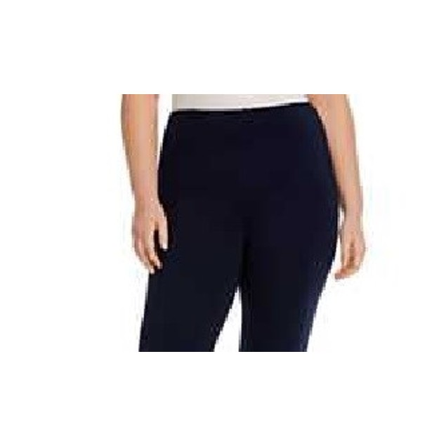 Michael Kors Women's Plus Four Pocket Style Leggings Blue Size Medium