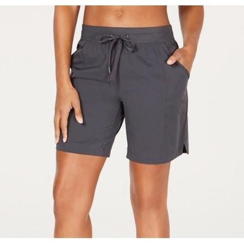 "Ideology  Women's Woven Shorts 7"" Dark Gray Size 2 Extra Large"