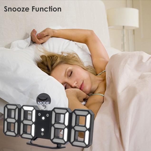3 Color Digital 24 Or 12 Hour Display LED Table  Night Wall Clock Alarm