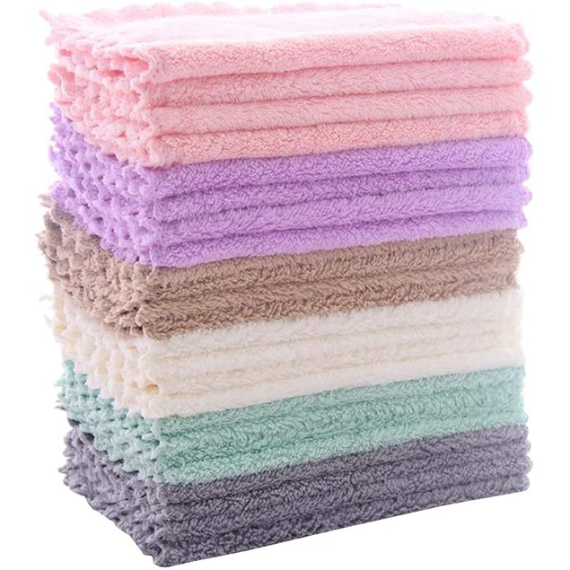 24-Pack Multicolor Kitchen Dishcloths - Does Not Shed Fluff - No Odor Reusable Dish Towels, Premium Dish Cloths, Super Absorbent