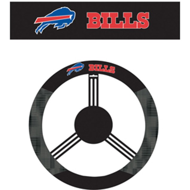 Buffalo Bills Steering Wheel Cover NFL Football Team Logo Poly Mesh