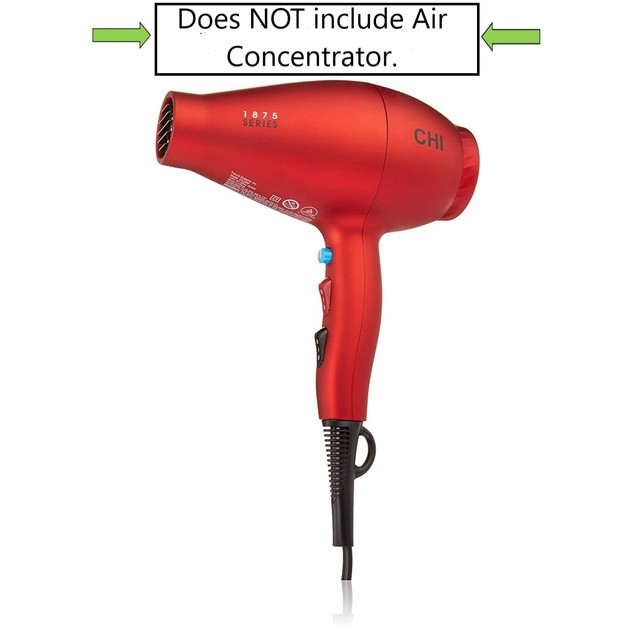 Chi Air 1875 Watts Hair Dryer w/ Rapid Cleanse Technology, Red
