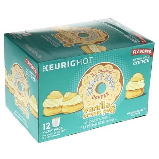 The Original Donut Shop Vanilla Cream Puff Coffee Keurig K Cup 3 Box Pack
