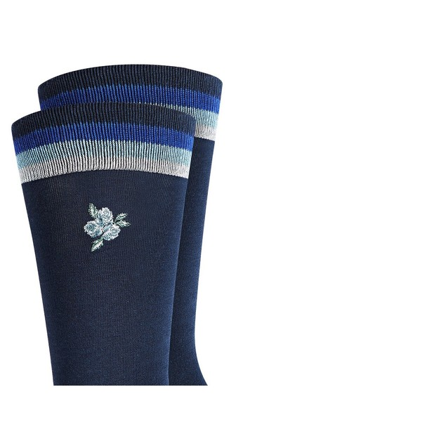 Bar III Men's Embroidered Floral Socks Navy Size Regular