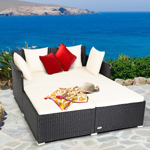 Costway Patio Rattan Daybed
