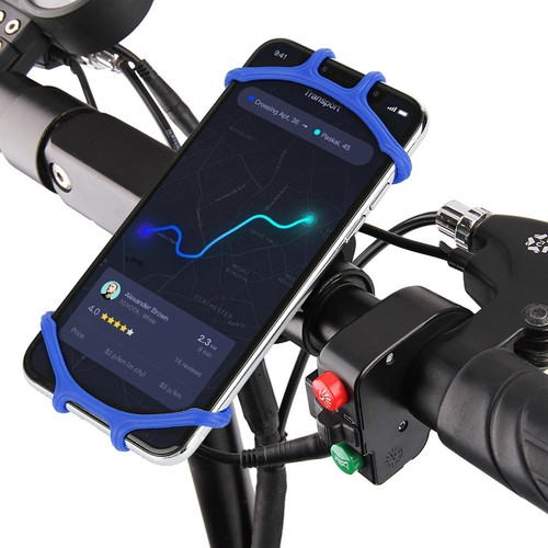 2-Pack Silicone Bike Handlebar Phone Holder- 3 Colors Available