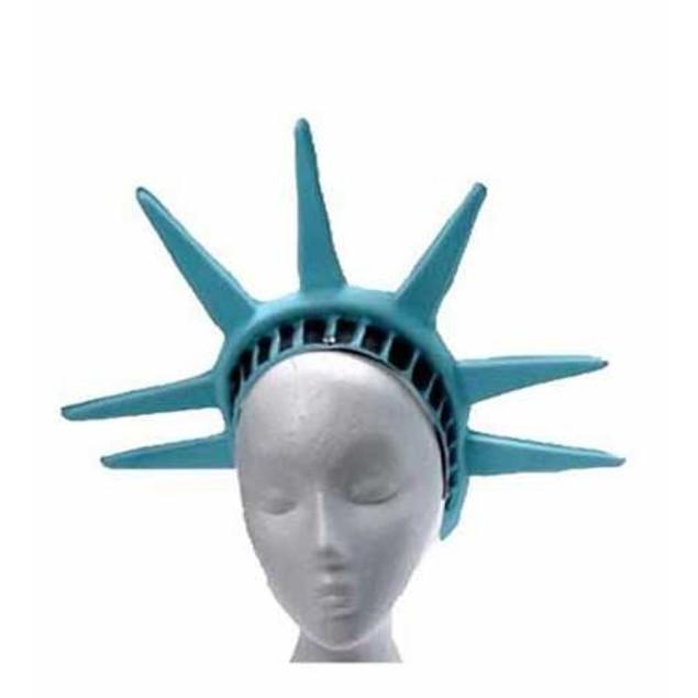 Statue Of Liberty Headpiece Lady America Patriotic Hat Crown Costume Tiara