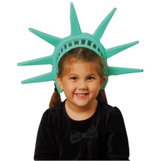 Statue Of Liberty Headpiece Lady America Patriotic Hat Crown Costume Tiara