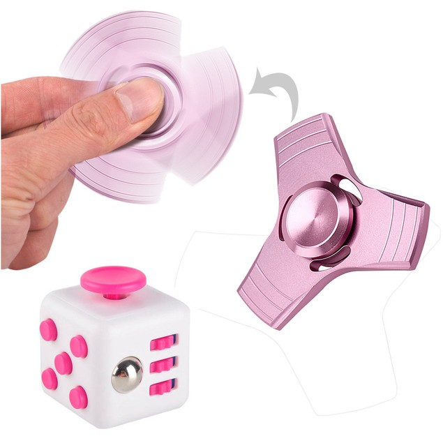 Fidget Cube +Hand Spinner  Fun Stress Reliever Anxiety Toys for Adults Kids