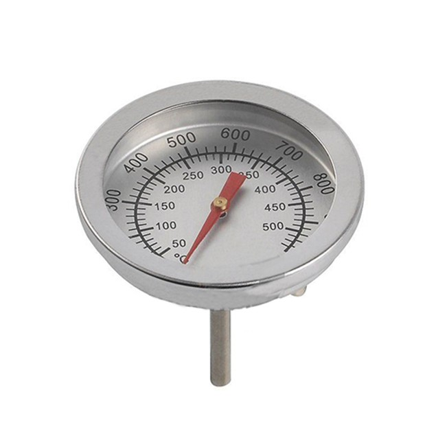 Stainless Steel Barbecue BBQ Smoker Grill Thermometer