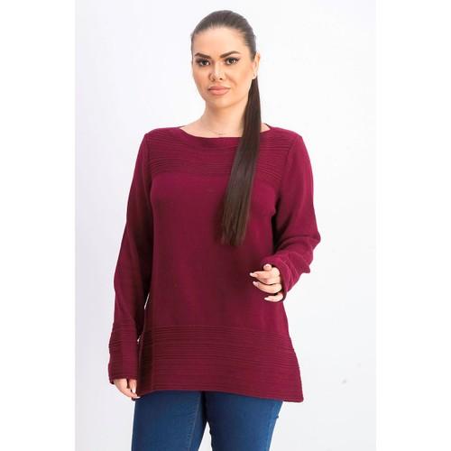 Karen Scott Women's Cotton Boat-Neck Sweater  Red Size Extra Large