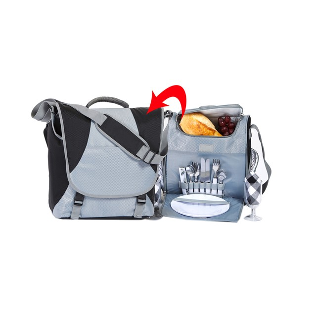 Picnic Plus Flex 2 Person Picnic Set BLACK/STEEL