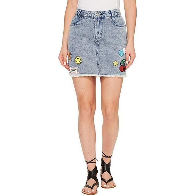 Brigitte Bailey Women's Dromond Denim Skirt Denim Skirt