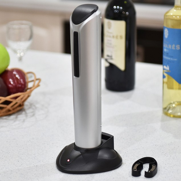Electric Corkscrew Wine Opener with Foil Cutter & LED Light
