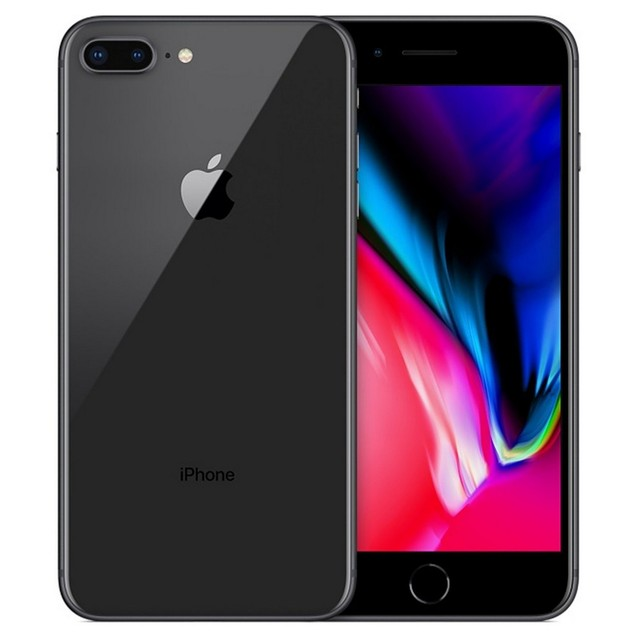 Apple iPhone 8 Plus, Unlocked, Grade B-, Gray, 64 GB, 5.5 in Screen