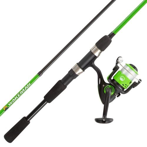 Fishing Rod & Reel Combo-6ft. Fiberglass Pole, Spinning Reel for Beginners