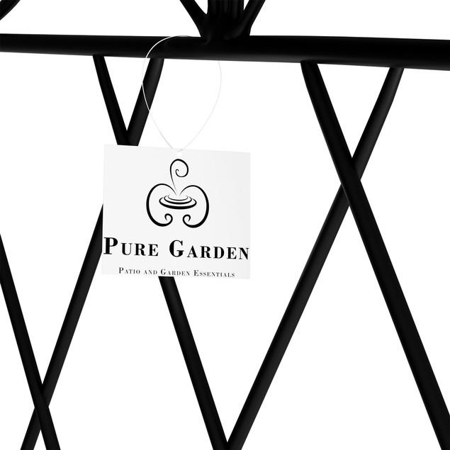 Metal Garden Fencing- Set of 5 Panels for Decorative Edging Flower Beds