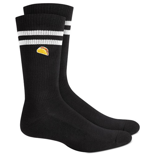 Bar III Men's Taco Socks Black Size Regular