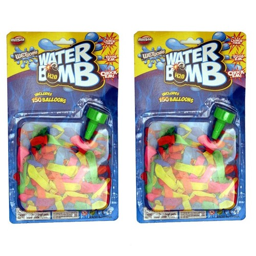 H2O Water Bomb Refills with Hose Nozzle 300 Balloons