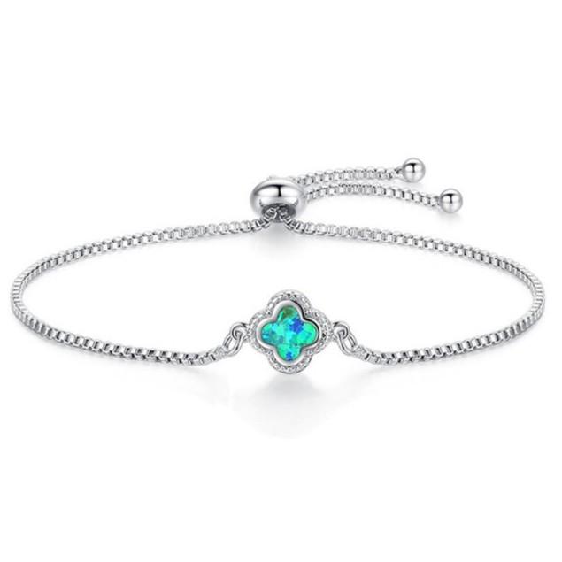 Blue Opal Adjustable Bolo Charm Bracelets - 3 Styles