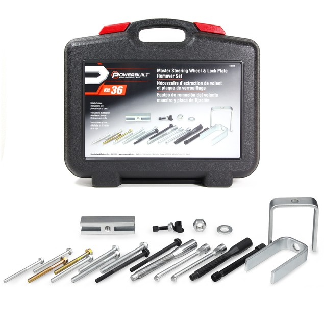 Powerbuilt Master Steering Wheel and Lock Plate Puller Kit - 648748