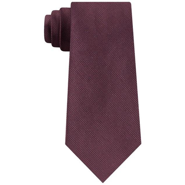 Calvin Klein Men's Shimmer Solid Tie Red Size Regular