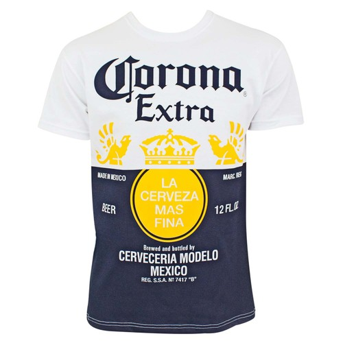 Corona Extra Beer Label Design Men's White T-Shirt