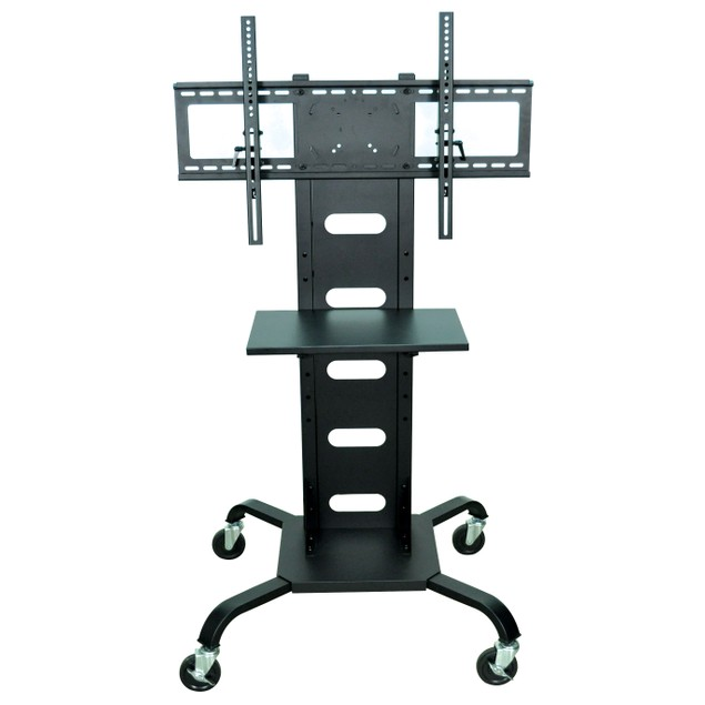 """Luxor 51"""" Mobile TV Stand Flat Panel with Mount - Black"""