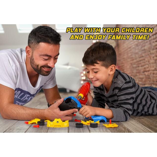 Kids' Take Apart Racing Car Toy: 30-Piece Construction Play Set