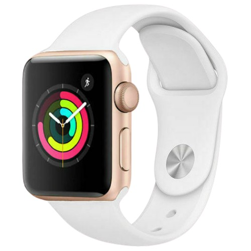 Apple Watch Series 2 42mm GPS Aluminum Gold Case with White Sport Band - Grade A