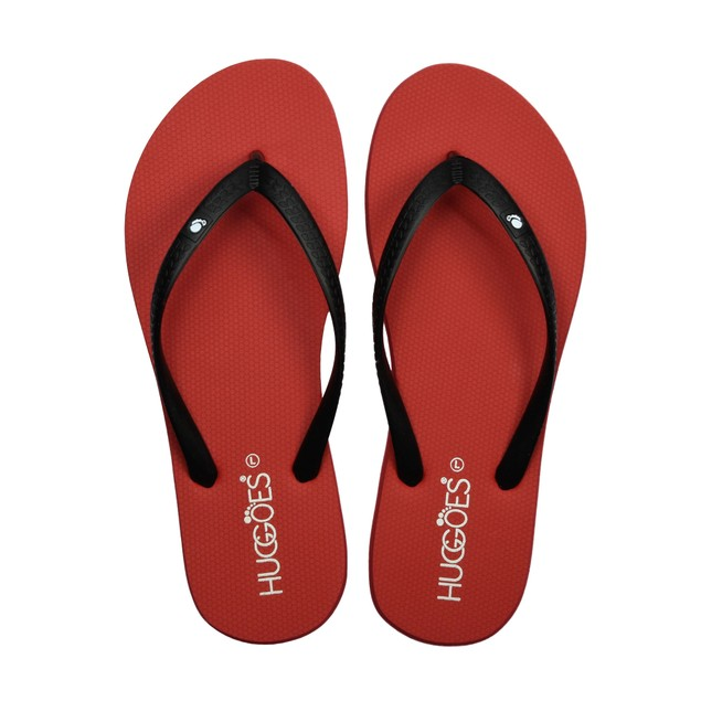HUGGOES - Crimson Women's Natural Rubber Summer Flip-Flops- Multiple Colors