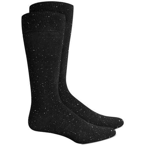 Alfani Men's Speckled Socks  Black Size Regular 10-13