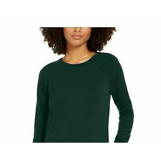Ideology Women's Long Sleeve Tunic Dark Green Size X-Large