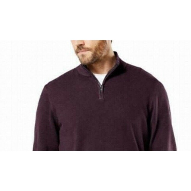 Dockers Men's Alpha Quarter-Zip Sweatshirt Red Size Medium
