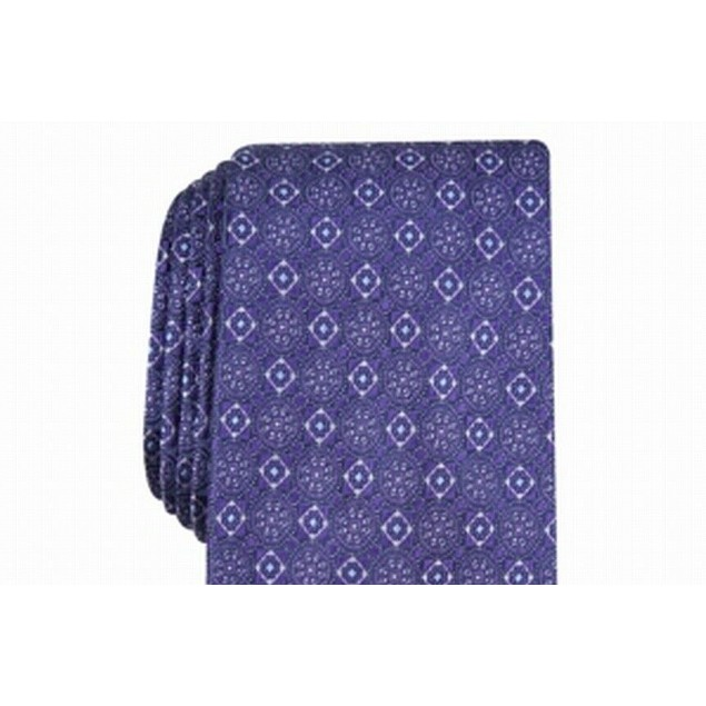 Tasso Elba Men's Classic Neat Silk Tie Purple Size Regular